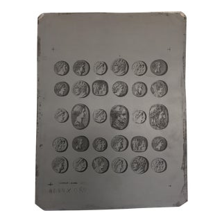 Piero Fornasetti Zinc Production Plates, 1950s