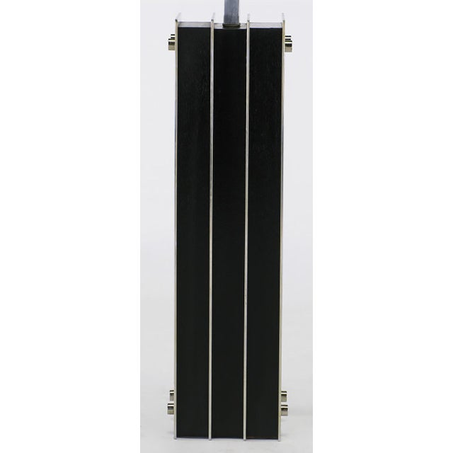Laurel Lamp Chrome and Ebonized Oak Table Lamp - Image 4 of 5