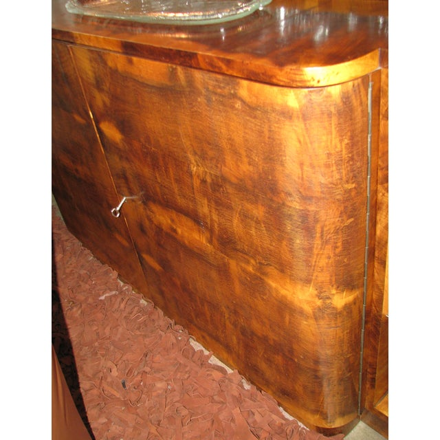 French Art Deco 2-Tiered Paldao Burlwood Sideboard - Image 7 of 11