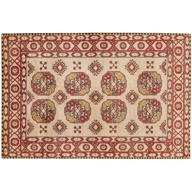 "Vintage Red & Tan Apadana Persian Rug- 6'5"" X 9'7"" - Image 1 of 6"