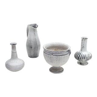 Herman A. Kahler Keramik Earthenware Vases by Svend Hammershoj, Denmark, 1930s