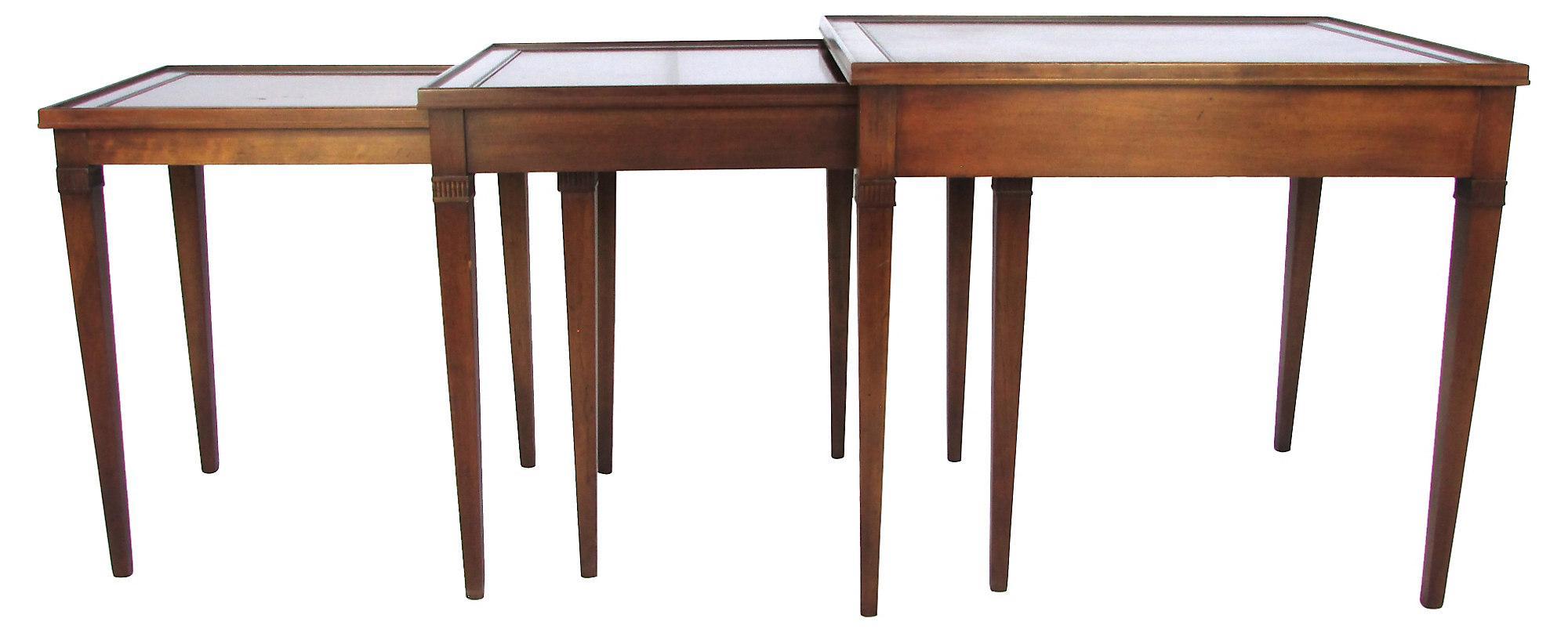 Good Image Of Regency Style Mahogany Nesting Tables   Set Of 3