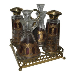 Carafe Caster Set With Metal Holder