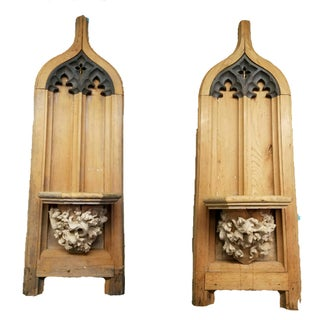 Antique Architectural Gothic Shutters - A Pair