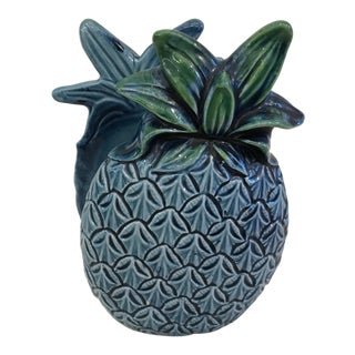 Vintage Ceramic Blue Pineapple Ceramic Napkin Holder