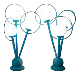 Vintage Amp Used Turquoise Table Lamps Chairish