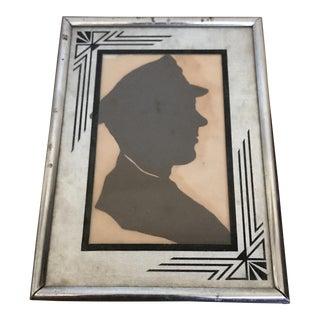 Antique Paper Cut Silhouette Portrait