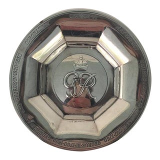 George VI Silver Coronation Souvenir Ashtray