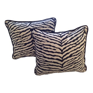 Osborne & Little Zebra Print Pillows - a Pair