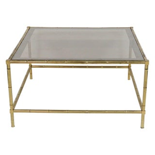 Faux Bamboo Smoked Glass Coffee Table