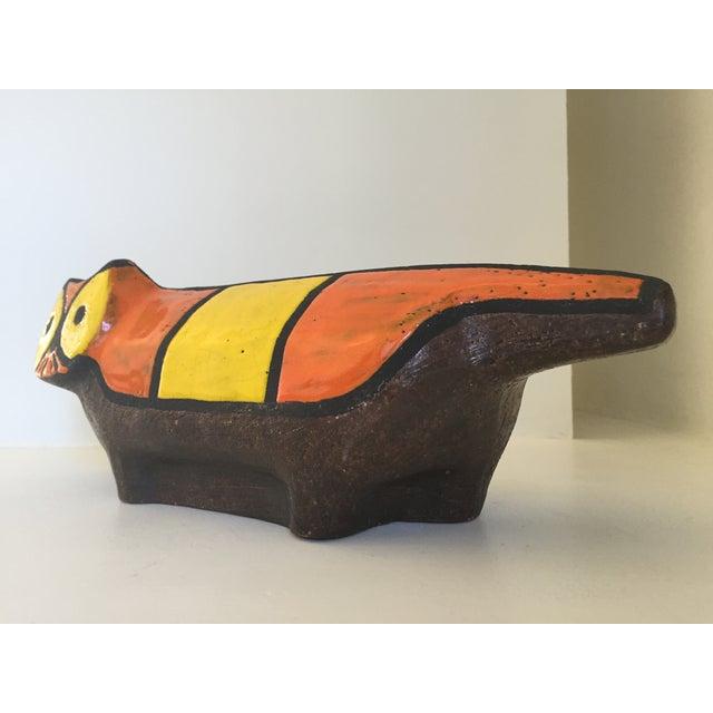Vintage Ceramic Stoneware Cat Sculpture - Image 5 of 9
