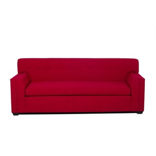 Maisy Button Tufted Contemporary Sofa in Red
