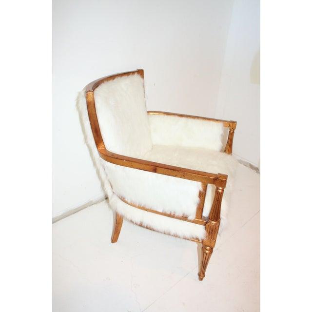 Faux Mongolian Fur Side Chair Chairish