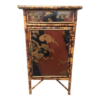 Japanese Bamboo & Lacquer Cabinet