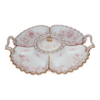 Antique Porcelain Hand Painted Serving Tray