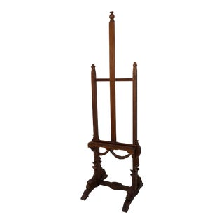 Antique French Easel With Carved Swags