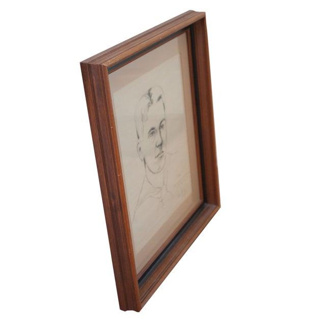 Image of Original Portrait Sketch - WWII Sailor, Framed