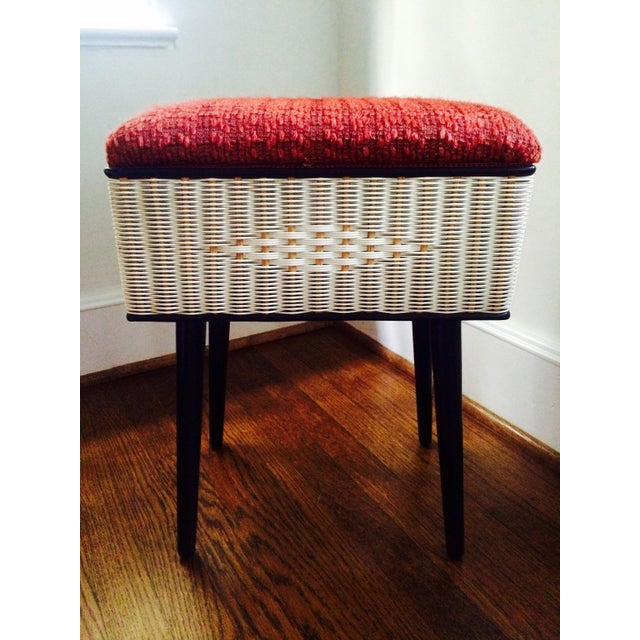 Vintage Sewing Basket With Pencil Legs - Image 2 of 11