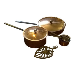Vintage Swiss Copper Kitchen Set