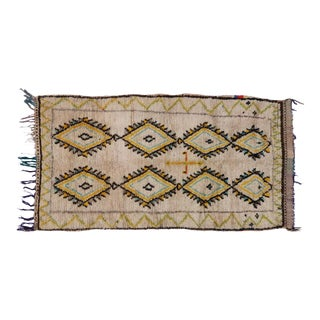 Berber Moroccan Azilal Rug with Tribal Design, 3'8 x 6'7