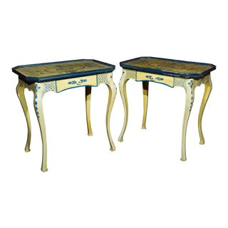 Painted French Side Tables - A Pair
