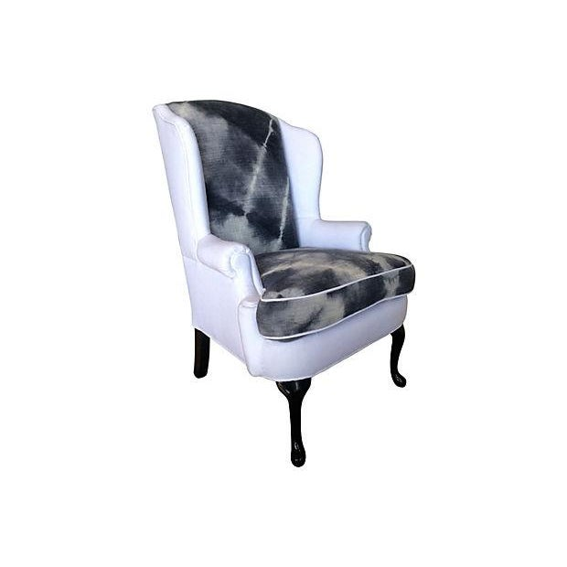 Indigo & White Denim Wingback - Image 2 of 5