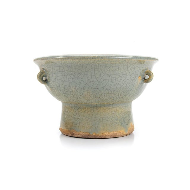 Chinese Antique Crackled Green Celadon Bowl - Image 5 of 9
