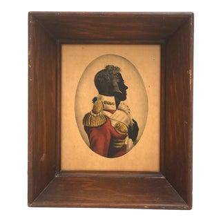 "Mini Framed ""The General"" Silhouette Print"