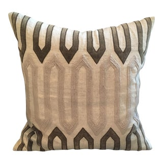 Beige & Brown Textured Pillow