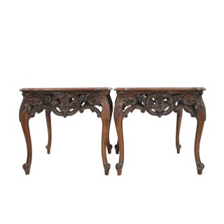 Louis XV Style Articulated Side Tables - Pair