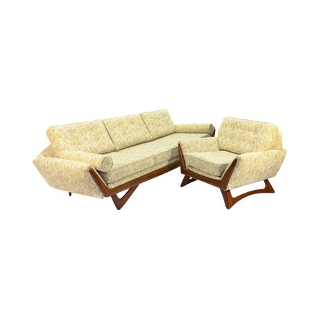 Image of Adrian Pearsall Gondola Sofa & Lounge Chair Set