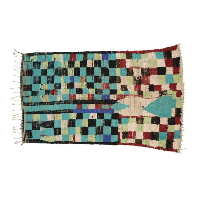 Boho Chic Vintage Berber Moroccan Rug with Modern Tribal Style, 04'05 x 07'06 - Image 1 of 9