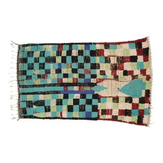 Boho Chic Vintage Berber Moroccan Rug with Modern Tribal Style, 04'05 x 07'06