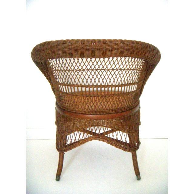 Heywood Wakefield Wicker Chair Chairish