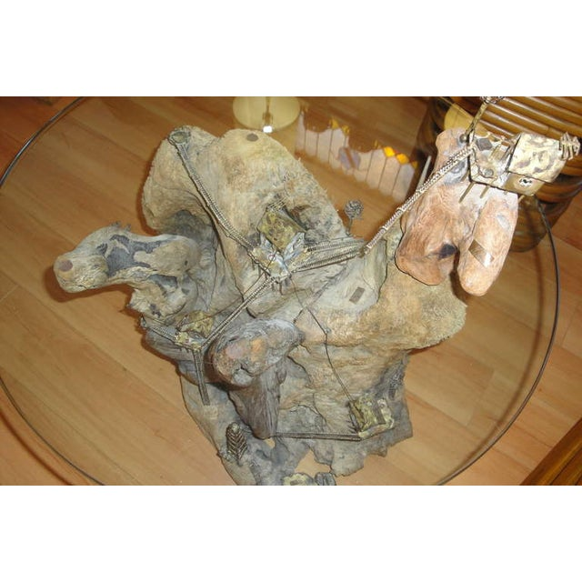 Unique Torch-Cut / Driftwood End Table - Image 7 of 8