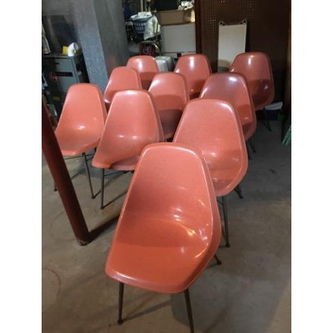 Mid-Century Fiberglass Shell Chair - Image 4 of 4