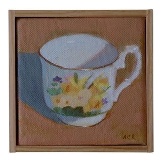 """Daffodil Teacup"" Painting by Anne Carrozza Remick"