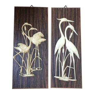 Vintage West Germany Bird Wall Plaques - A Pair