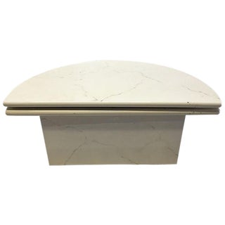 Lacquered Faux Marble Coffee Table