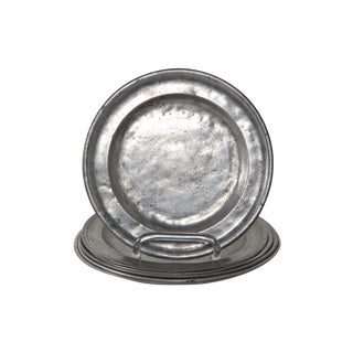 Pewter Plates - Set of 6