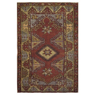 Vintage Turkish Rug - 3′5″ × 5′2″