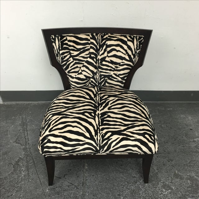Zebra Print Miley Chair - Image 4 of 10