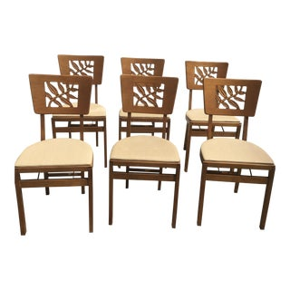 Vintage Carved Art Deco Chairs - Set of 6