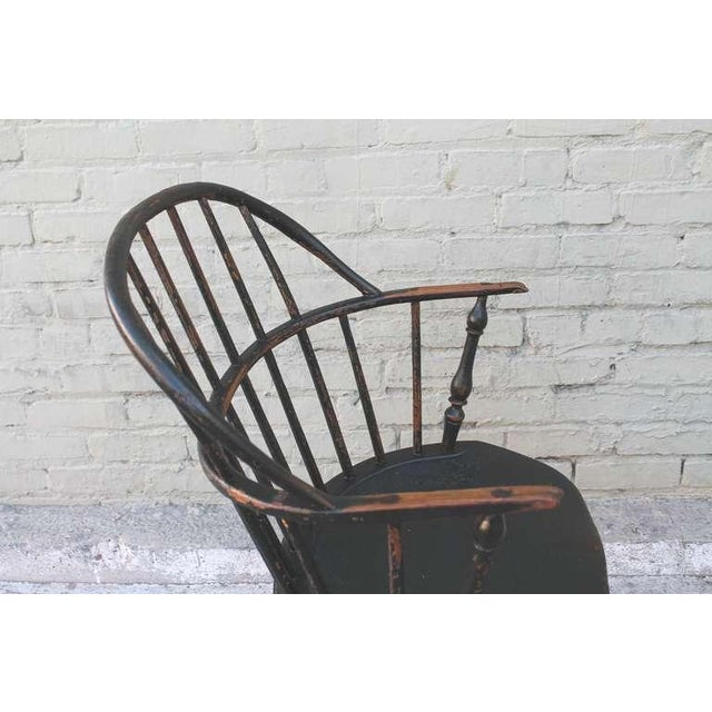 18th Century Original Green Extended-Arm Windsor Chair - Image 8 of 10