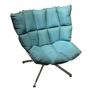 Turquoise Plush Outdoor Chair