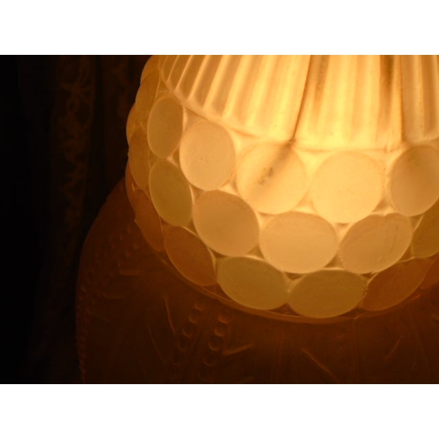 Art Deco Glass Table Lamps - Pair - Image 3 of 9