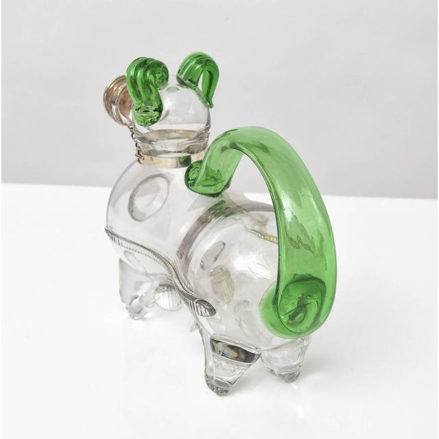 Dual Tone Glass Dog Decanter - Image 3 of 9