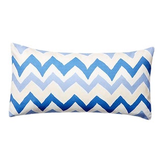 Dana Gibson Blue Bargello Lumbar Pillow