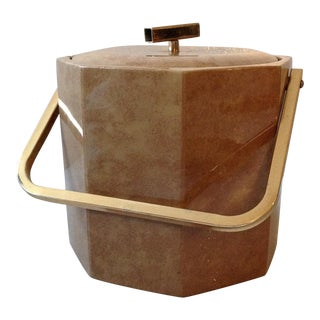 Georges Briard Mid-Century Brown Vinyl Ice Bucket