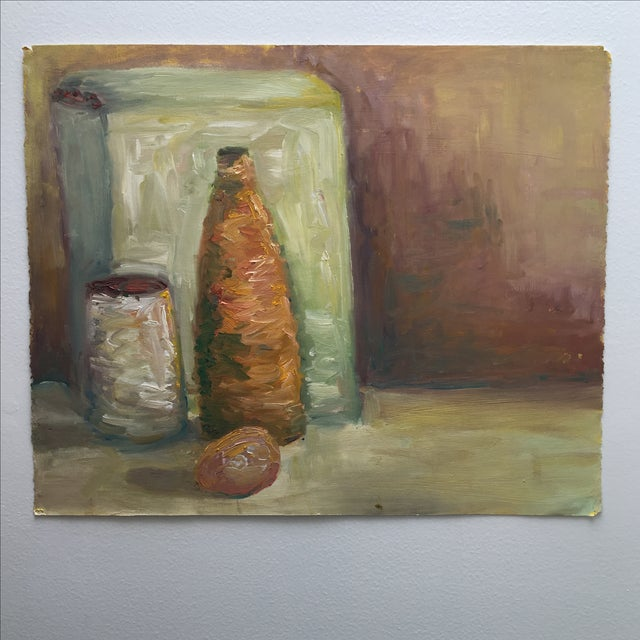 Vintage Abstract Still Life Painting - Image 2 of 11